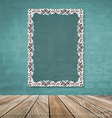 Vintage frame on brick wall vector image
