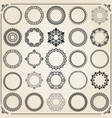 vintage set of round elements vector image vector image