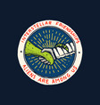 vintage space logo exploration vector image vector image