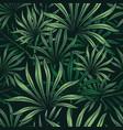 vintage tropical natural seamless pattern vector image vector image