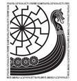 warship of the vikings drakkar ancient vector image vector image