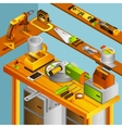 Workshop Isometric Concept vector image vector image