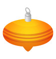 yellow xmas cone toy icon isometric style vector image vector image