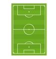 Soccer Football Game Field Top View vector image