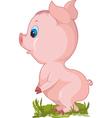 Cartoon piglett vector image