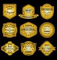 premium logos set best choice emblems quality vector image