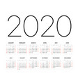 2020 year calendar template editable layout