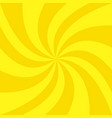 abstract golden summer spiral sunbeam background vector image vector image