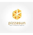 Abstract pizza logo icon concept Logotype template vector image