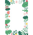 abstract spring and summer flat simple natural vector image