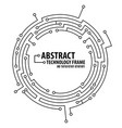 abstract technology round frame