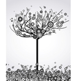 abstract tree with round leaves vector image vector image