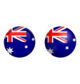 australian flag under 3d dome button and on vector image vector image