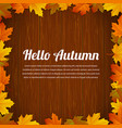 autumn typography poster with colored leaves and vector image vector image