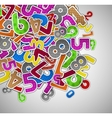Background with colorful numbers vector image