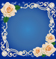 background with jewelry and wedding flower vector image vector image