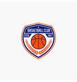basketball club badge logo-11 vector image vector image