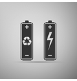Battery with recycle-renewable energy concept icon vector image vector image