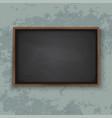 blackboard on wall vector image vector image