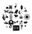 blossom icons set simple style vector image vector image