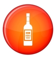 Bottle of vodka icon flat style vector image vector image