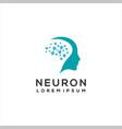 brain logo neuron vector image