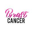 breast cancer pink ribbon cancer awareness vector image