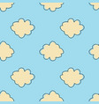 bright cloud sky seamless pattern simple cloudy vector image vector image