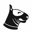 Bull terrier dog icon simple style vector image