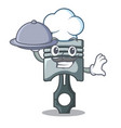 chef with food piston isolated in the cartoon vector image vector image