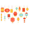 chinese lantern paper hanging vector image vector image
