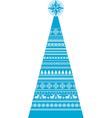 Christmas-Fir-Decor-Knit-Pattern vector image vector image