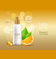 cream sun protective factor coenzyme energizer vector image vector image