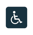 cripple icon Rounded squares button vector image vector image