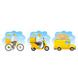 delivery service designs set vector image