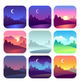 different day times early morning sunrise and vector image vector image