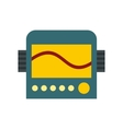 Display with cardiogram ecg machine icon