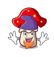 elf amanita mushroom character cartoon vector image
