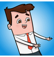 Excited Businessman vector image vector image