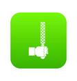 file tool in man head icon digital green vector image