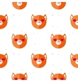 flat cartoon fox in love seamless pattern vector image vector image