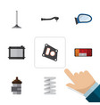flat icon component set of car segment input vector image vector image