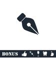 Fountain pen icon flat vector image vector image