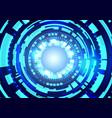 futuristic technology hud background big data vector image vector image