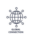 global connection line icon concept global vector image vector image
