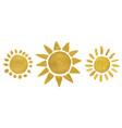 golden watercolor sun vector image