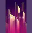 gradient geometric abstract background vector image vector image