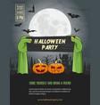 happy halloween flyer vector image vector image