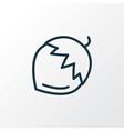 hazel nut icon line symbol premium quality vector image