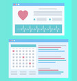 heartbeat screen healthcare icon cardiogram vector image